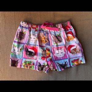 PETER ALEXANDER merry catmas shorts